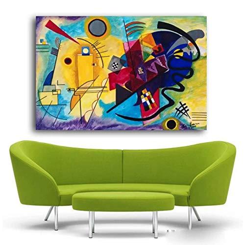 ZNNHERO Wassily Kandinsky Ölgemälde Klassische Kunst Wandplakat & Aufkleber Malerei wasserdichte Leinwand Stoff Kunst Wanddeko-70x100cmx1 Kein Rahmen