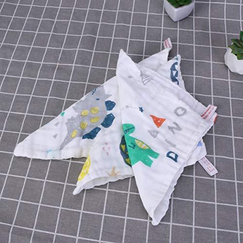 Milisten 10 Stks Katoenen Gezicht Handdoek Kids Baby Mousseline Doeken Vierkante Zakdoeken Zes Lagen Voor Babyvoeding Speeksel Gezicht Handdoek Dinosaurus Ananas Regenboog Patroon