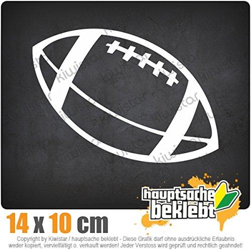 Football 15 x 11 cm IN 15 FARBEN - Neon + Chrom! Sticker Aufkleber