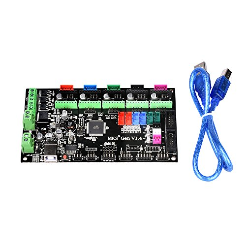 Witbot MKS-Gen V1.4 Controller Board Integrated Ramps 1.4 and Mega 2560 Mainboard  with Cable Line for RepRap 3D Printer