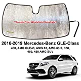 YelloPro Custom Fit Automotive Reflective Front Windshield Sunshade Accessories UV Reflector for 2016 2017 2018 2019 Mercedes Benz GLE Class 400, AMG GLE43, AMG 63, AMG 63 S, 350, 450 SUV