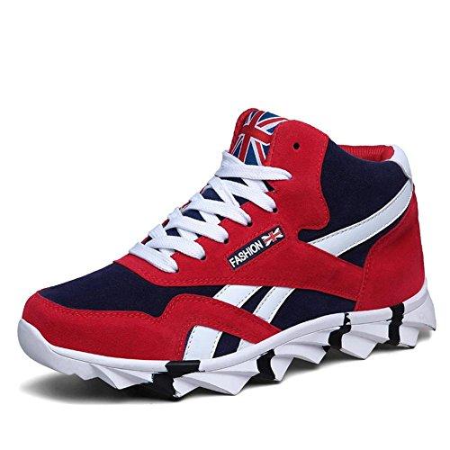 Frühling / Herbst / Winter Dragon Blade Sneaker Fashion High Top Sportschuhe Keep Warm und Breathable , red , 43