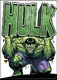 Ata-Boy Marvel Comics Heavy Hulk 2.5' x 3.5' Magnet for Refrigerators and Lockers