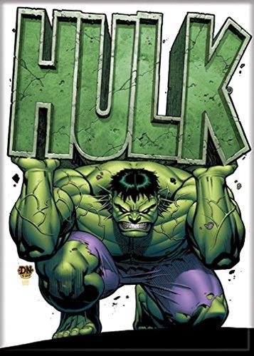 "Ata-Boy Marvel Comics Heavy Hulk 2.5"" x 3.5"" Magnet for Refrigerators and Lockers"