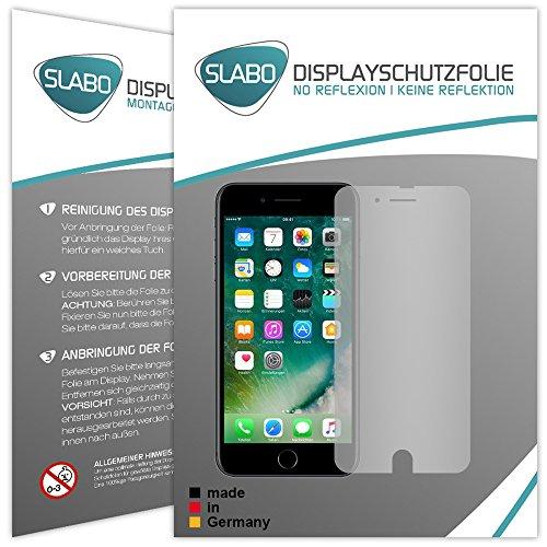 Slabo 4 x Displayschutzfolie für iPhone 7 Plus | iPhone 8 Plus Displayfolie Schutzfolie Folie Zubehör No Reflexion MATT