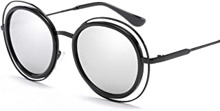 SGJFZD Vintage Retro Round Outdoor Seaside Sunscreen UV400 Polarized Sunglasses Fishing Ladies' Polarized Sunglasses Trendy Polarized Sunglasses Sporting Large Frame Elegant Sunglasses