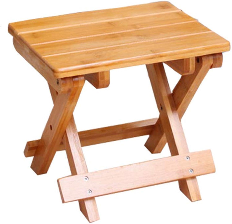 TSAR003 Portable Outdoor Fishing Camping Folding Wood Chair, Garden Weed Bamboo Stool, Home Bathroom Stool,C