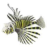 Toyvian Peces de Simulación de Peces de Acuario León Artificiales Peces de Silicona Decoración Flotante Peces Tropicales Falsos Acuario Tanque de Peces Decoración de Paisajismo Ornamento
