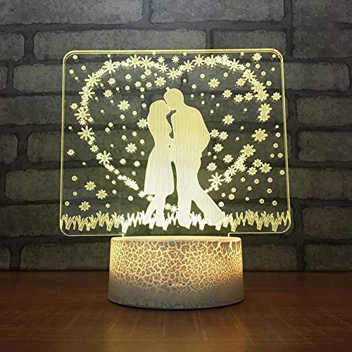 CREPUSCOLO 3D LED Nachtlicht Bunte Knistern Atmosphäre Licht Dekor Lampe mit Fernbedienung Baby Kinder schlafen Geburtstag Geschenke für Mädchen(04)
