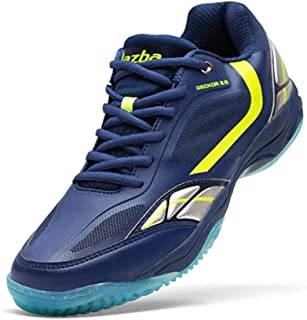 JAZBA Sports Shoes for Indoor Games, Light Weight, Anti-Skid | For Badminton, Sqash, Volleyball | Series - Geckor 2.0