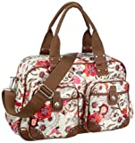 Oilily Summer Birds Weekender Off white OCB9101-0201, Damen Henkeltasche, weiss, (201), 49x20x31