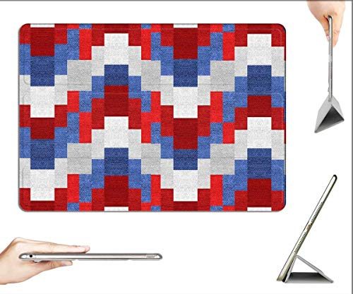 Case for iPad Pro 12.9 inch 2020 & 2018 - Texture Textile Surface Fabric Red Grey