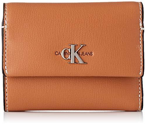 Calvin Klein Damen Ckj Mono Hardware Med Trifold Geldbörse, Braun (Cuoio), 1x1x1 cm