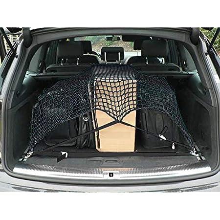 Qii Lu 100 100 Cm Auto Gepäcknetz Universal Hinten Elastische Net Kofferraum Gepäck Organizer Mesh Halter Schwarz Auto