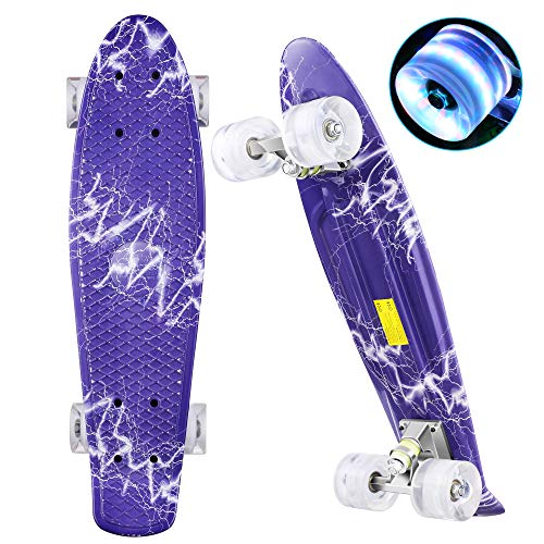 WeSkate Mini Cruiser Skateboard Retro Komplettboard 22