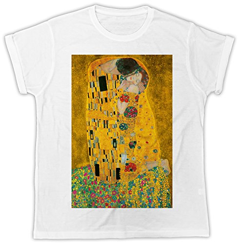 Klimt Gustav The Kiss Poster Cooler Spruch, Slogan, lustiges Design, Geschenkidee