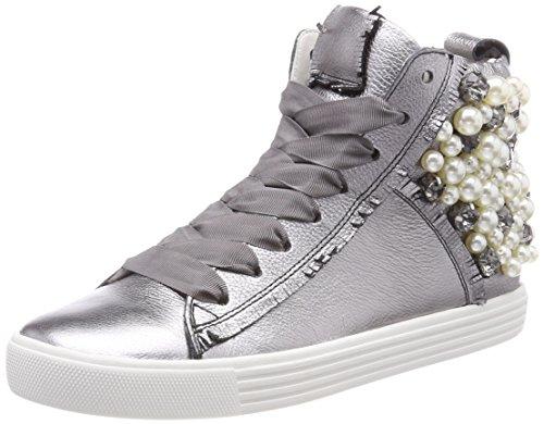 Kennel und Schmenger Damen Town Hohe Sneaker, Silber (Alluminio/Pearl Sohle Weiß), 38.5 EU