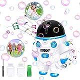 Macchina per bolle per bambini, soffiatore automatico di bolle 3500+ al minuto, macchina per bolle con luci e musica, all'aperto &giochi da giardino, migliori regalo bambina bambino. [2021 Nuovo]