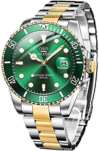 QHG Relojes para Hombres Business Luxury Business Impermeable Deporte Hombres de Cuarzo analógico Hombres Inoxidable