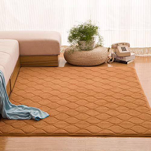 JJSDT Tapijt Solide traagschuim groot tapijt Grid Mat vloerkleed warm slaapkamer tapijt paars mat gewatteerde tapijt voor woonkamer