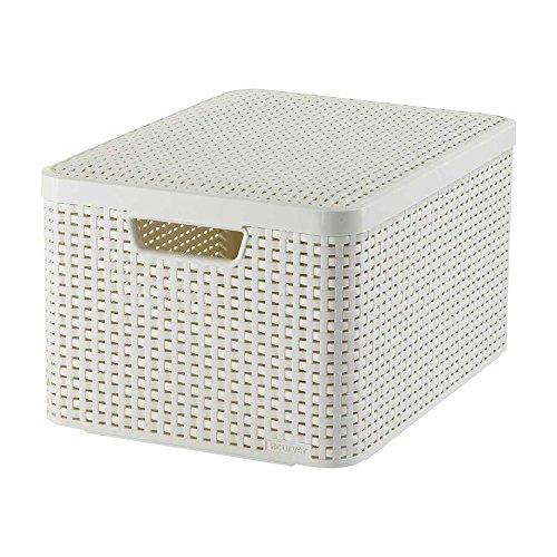 Curver Aufbewahrungsbox, Polypropylene, creme, Depth 330 mm x Width 445 mm x Height 240 mm