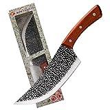 Rebanar carnicero cuchillo de cocina de caza que acampa de Serbia Cuchillo Chef Forjado hecho a mano Tang de cocina a toda rodajas de carnicero (Color : Type1)