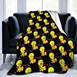 Royal Blanket Tweety Bird Flannel Fleece Siesta Sofa Throw Lightweight Cozy Couch Bed Soft and Warm Plush Air-Conditioning Quilt60 x50