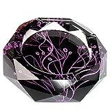 LAHappy Cenicero de Cristal de Vidrio, Cenicero Grande para Decoración de Escritorio, Contenedor de Cenizas para la Decoración del Hogar y de la ofici,B