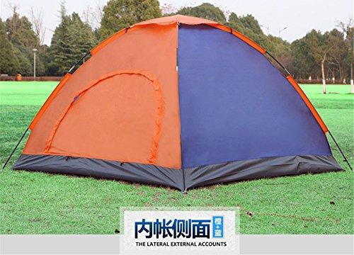 HONEYY Tiges en Fibre de Verre tentes 3-4 Lits superposés Double Porte Tente de Camping en Plein air d'équipe Silver Band 200 * 150 * 110cm UV
