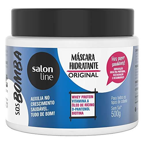 Máscara de Hidratação - S.O.S Bomba Original, 500 Gr, Salon Line, Salon Line, Branco