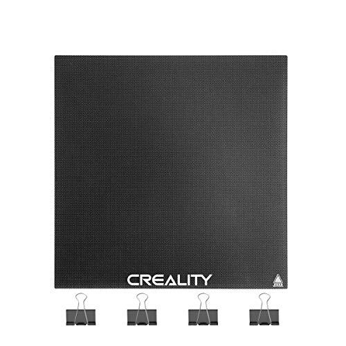 Creality - Piatto ORIGINALE per Stampante 3d in Vetro Temperato e Microforato,235x235x4mm,Ideale per Ender 3, Ender 3 Pro Ender 5 / CR-20 Proetc, etc