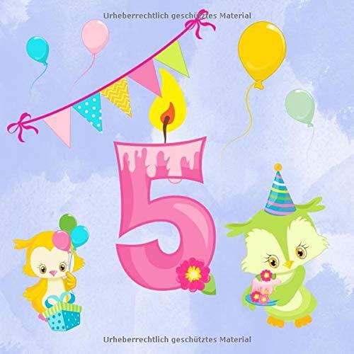 5: Gästebuch für den fünften Geburtstag I Kindergeburtstag I Erinnerung I Geschenkidee I süße...