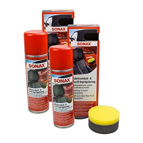 SONAX 2X 03102000 Cabrioverdeck & Textilimprägnierung 300 ml