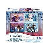 Cardinal Disney La Reine des Neiges 2 - 6052998 - Jeu enfant - Puzzle bois 4 modèles Frozen 2
