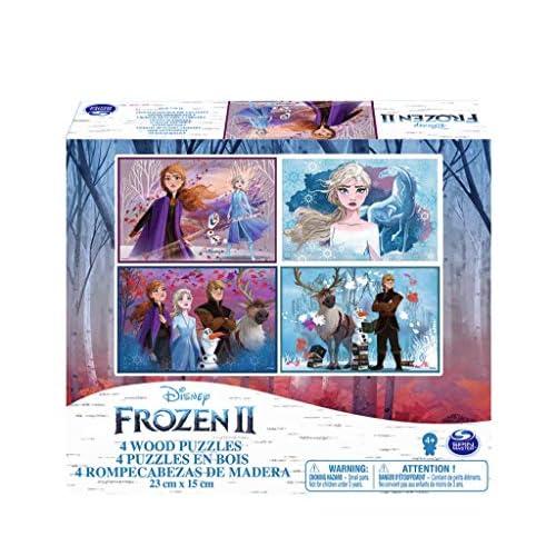 Frozen II, 4 Puzzle in Legno da 20 - 24 Pezzi, dai 4 Anni in Su