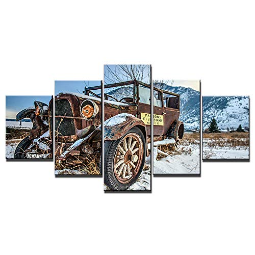 Canvas Wall Art 5 Pieces Panel Print On Canvas Picture Motorcycle Mountain Bike Suv Track The Decoration Prints Xxl Image Artwork Oil Office Modern Home Decor Gift Framed