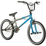 20' Mongoose Mode 100 Boys' Steel Freestyle BMX Bike with 4 Wheel Pegs for...
