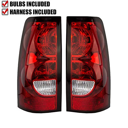 Epic Lighting OE Style Replacement Rear Brake Tail Lights for 2004-2007 Chevrolet Silverado (Classic) 1500 2500 3500 [ GM2800174 GM2801174 15273473 15844157 15273472 15844156 ] Left & Right Sides Pair