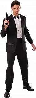 Herren 007 James Bond Schwarzer Gesellschaftsanzug Filmkostüm