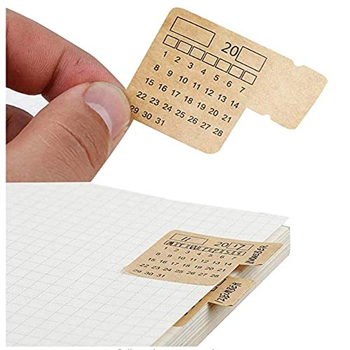 YCYY Calendar Stickers For Planners Self Adhesive Index Tabs Monthly Index Dividers Bullet Journal/Planners/Agenda 30Pcs