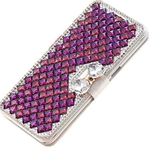 Beautyfull - Funda para Samsung J320 (función atril, función atril, diseño de diamantes de imitación, color morado