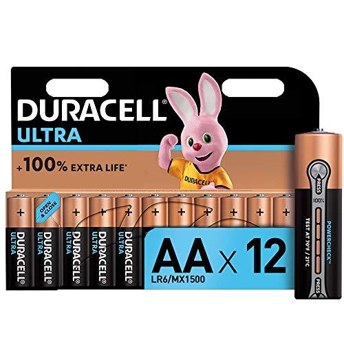 Duracell Ultra AA Alkaline Batteries [Pack of 12], 1.5 V LR06 MX1500