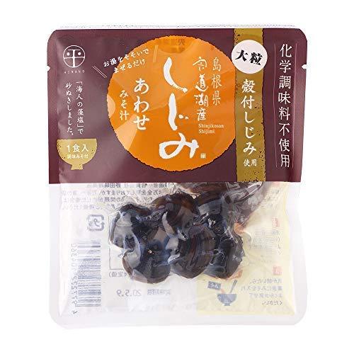 宍道湖産 即席大粒しじみ汁 合わせ 48g×6袋 平野缶詰 殻付しじみ使用 お湯をそそいでまぜるだけ