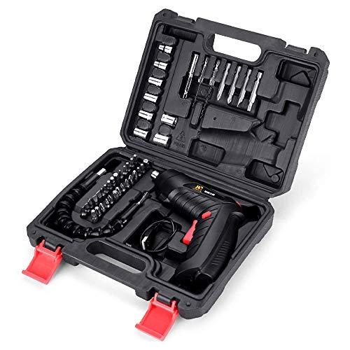 Atornillador desatornillador eléctrico San Hilo mini destornillador recargable, batería de iones de...