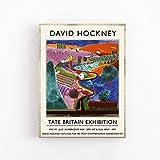 Póster de la exposición de David Hockney - Impresión de calidad suprema - Cañón de Nichols - Arte de pared Pintura de lienzo decorativa sin marco Q-7 50x70cm