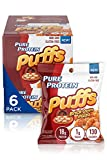 Pure Protein Puffs, Brick Oven Pizza, 18g Protein, Non-GMO, Gluten Free 1.05 oz, 6 Count (Pack of 1)