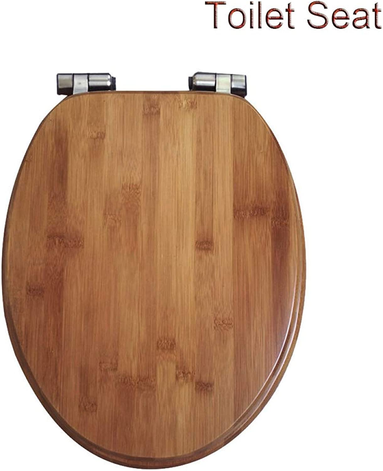 Toilet Seats V U O Shape Wooden Toilet Lid Soft Close Hinge Toilet Seat Cover Stable Hinges Easy to Mount for Family Bathroom Mounting Size  4048  3338cm