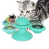 PopHMN Juguete Interactivo para Gatos, Molino Giratorio Molino De Viento Juguete para Gatos Bola De Molino Gatito Juego para Gatito (A)