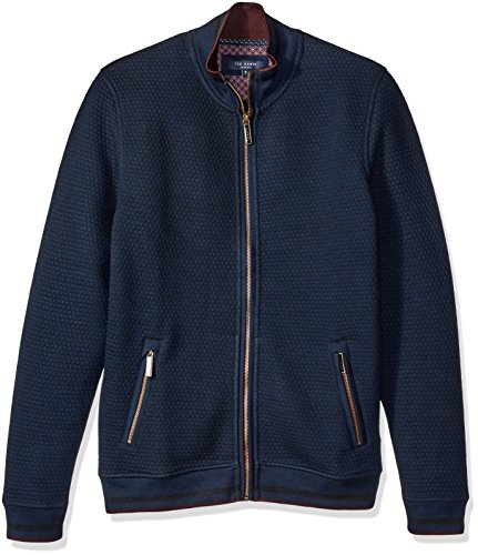 Ted Baker Men's Ristoro Full Zip Sweater Jacket, Navy, 3/Medium