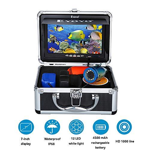 STHfficial HD 1000 snoer visvinder 7 inch 12 stuks LED zichtbare onderwatercamera 15m